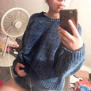 Sweaters - Blue Crew Neck Sweater